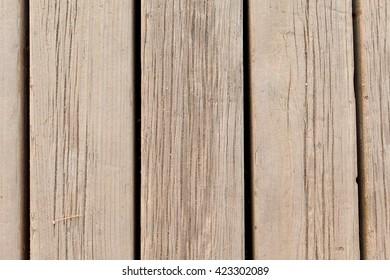 Wooden floor in the beach jetty.