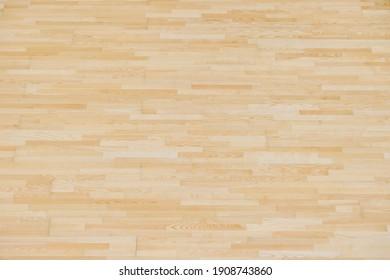 Wooden floor futsal, handball, volleyball, basketball, badminton court. Grunge wood pattern texture background, wooden parquet background texture