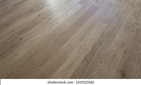 Wooden floor made of solid wooden floor, parquet flooring Oak flooring as planks design