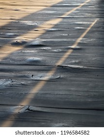 Wooden floor of the old temple in Nara