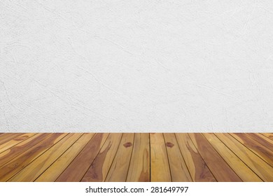 Wooden floor on white background, grey and white colors