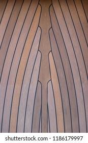 Wooden floor of a yacht