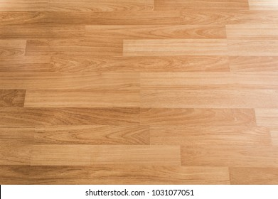 Wooden flooring texture background, Top view of smooth brown laminate seamless wood floor, use for architecture business