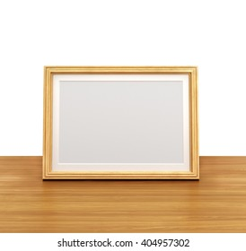 Wooden frame, 3d illustration