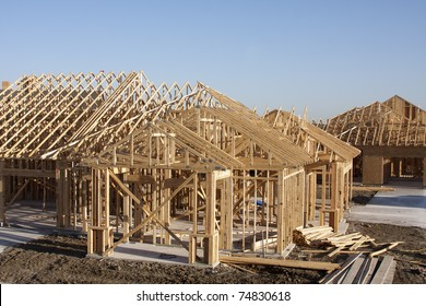 wooden frame for building construction