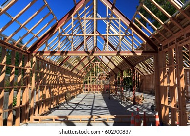 wooden frame house building structure - New Zealand