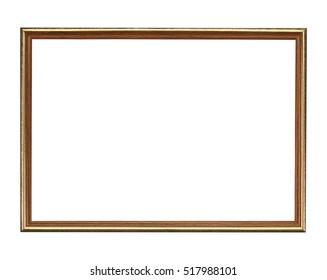 wooden frame isolated on black background