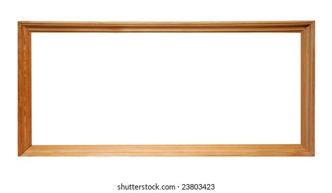 Wooden frame isolated over white background