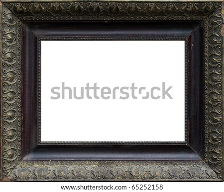 Wooden Frame Paintings Photographs Stock Photo (Edit Now) 65252158 ...