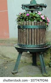 wooden fruit press