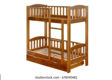 Wooden furniture bunk bed