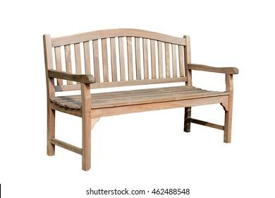 Wooden garden chair in the garden