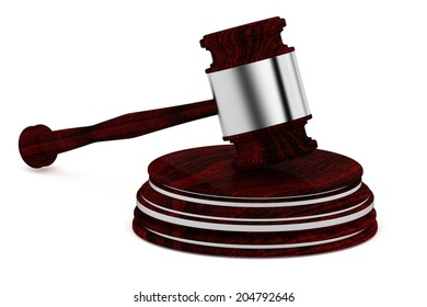 Wooden gavel - judge - Law concept icon - isolated on white background
