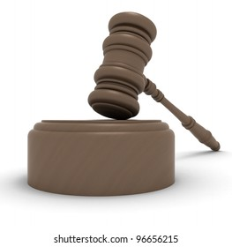 wooden gavel symbol of justice