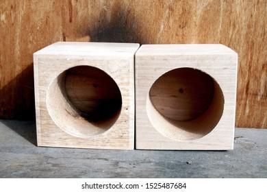 Wooden geometric shapes. Рhoto image