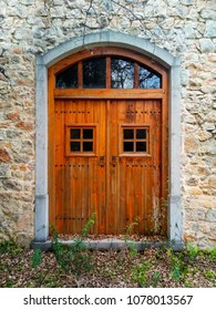 Wooden and Glass Old Style Door