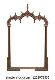 Wooden gothic frame for paintings, mirrors or photo