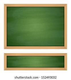 Wooden Green Chalkboard. Raster illustration.