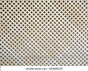 Wooden grid, the background of woven wood.