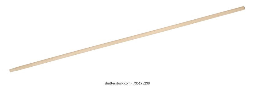 wooden handle isolated in white back
