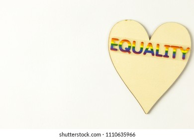 Wooden hearth with the word Equality on top
