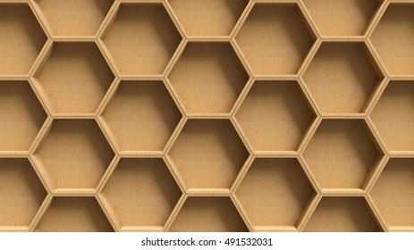 Wooden hexagon pattern background