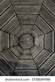 Wooden with hexagon shape. Hexagon patterns - Shutterstock ID 1938684988
