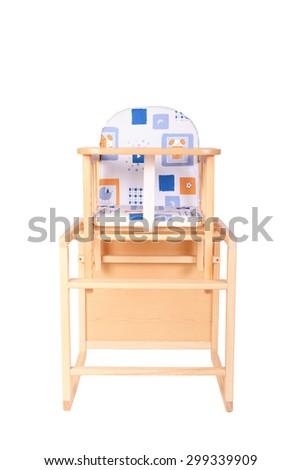 Super Wooden High Chair Baby Feeding Isolated Stock Photo Edit Gmtry Best Dining Table And Chair Ideas Images Gmtryco