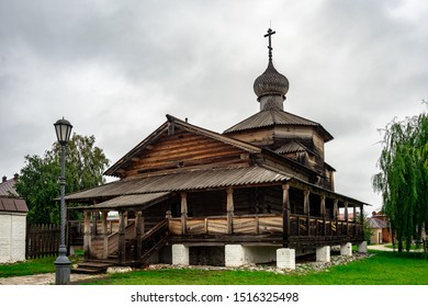 Wooden Holy Trinity Church and the Cathedral of Our Lady of Joy of All Who Sorrow of John the Baptist Monastery in City-Island Sviyazhsk, Russia