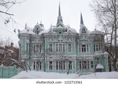 Wooden Homich's house in Tomsk city (Russia)