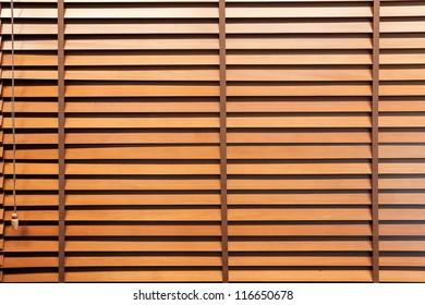 Wooden horizontal jalousie