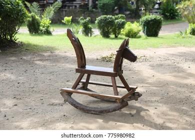 wooden horse chair