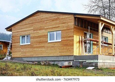 Wooden house, building