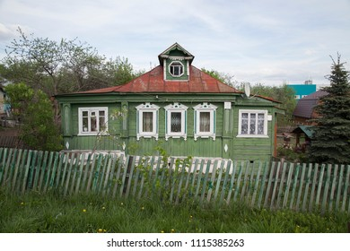 Wooden house in the countryside of Russia in the vicinity of Vladimir