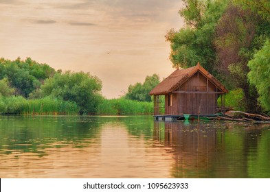 wooden house at Danube Delta reservation