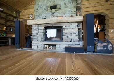 wooden house interior
