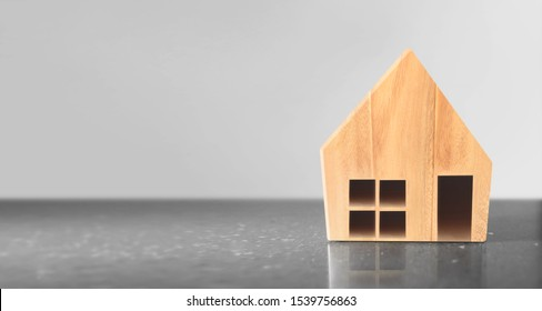 Wooden House Model .Home,Housing and Real Estate concept