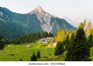 Wooden house in the mountains, Friuli Venezia Giulia