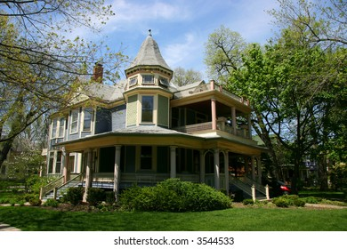 Wooden house in Oak Park, Chicago, Illinois