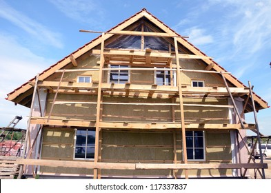 wooden house thermal insulation with mineral rockwool