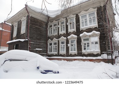 Wooden house in Tomsk city (Russia)