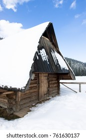 Wooden house and winter