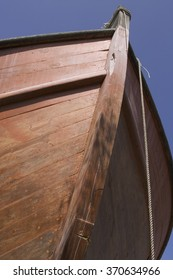 Wooden hull of boat
