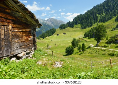 Wooden hut in the alps of Tyrol