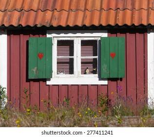 wooden hut in sweden
