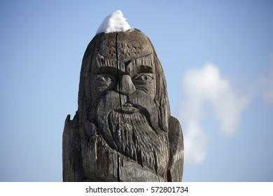 wooden idol