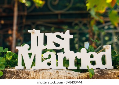 Wooden  just married