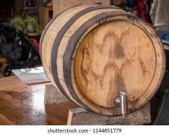 wooden keg and tap