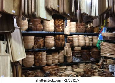 Wooden kitchenware.