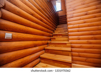 wooden ladder in a wooden house